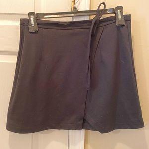 Mock Wrap Mini Skirt